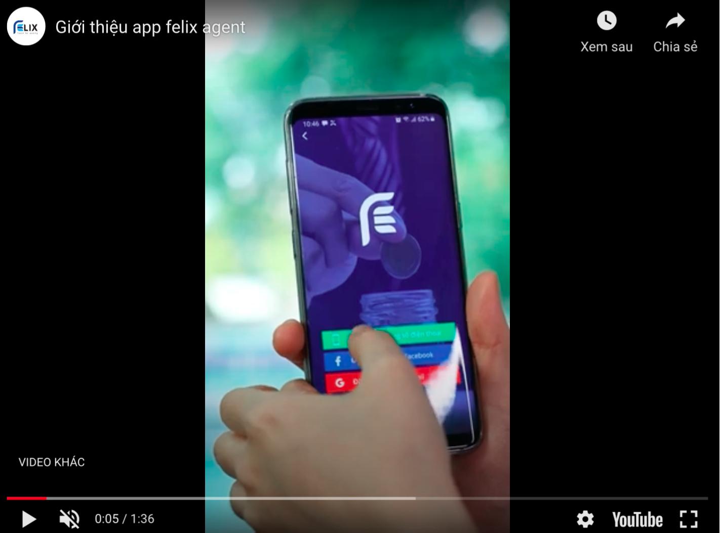 App Felix – Dành cho đại lý
