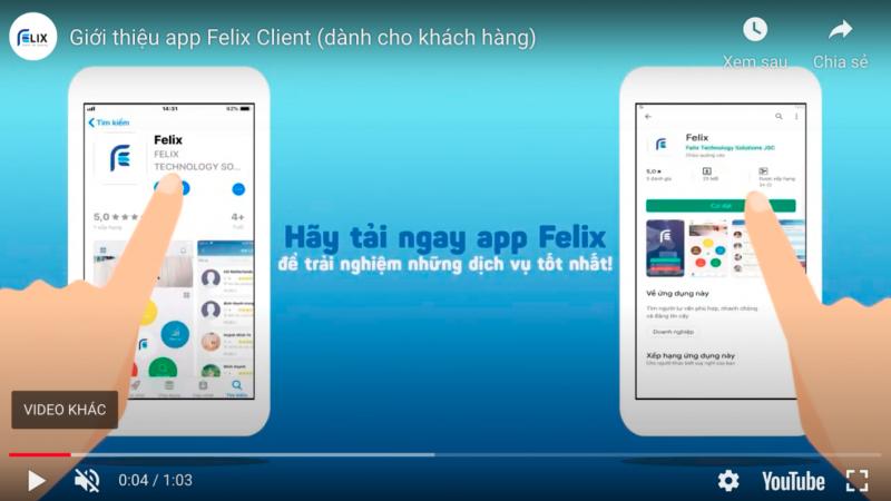App Felix – dành cho người mua